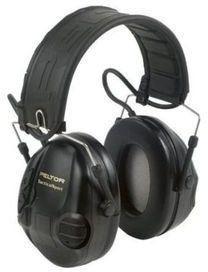 Peltor Sporttac Electronic Ambient Listening Headset Folding Headband, Black MT16H210F-SV