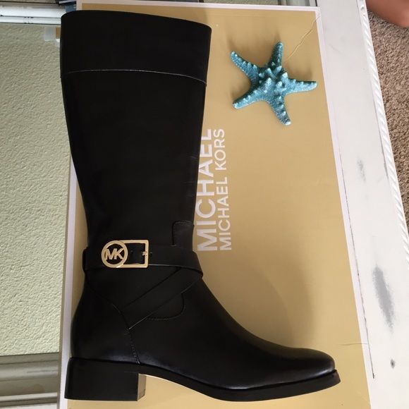 🆕original Michael Kors. Bryce tall boots! New with box Black Michael Kors leather boots! Have any questions feel free to ask!😉.  NO TRADE! MICHAEL Michael Kors Shoes
