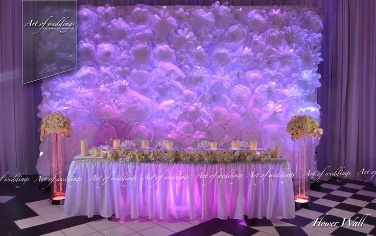 Flawer wall by artofweddings.lv