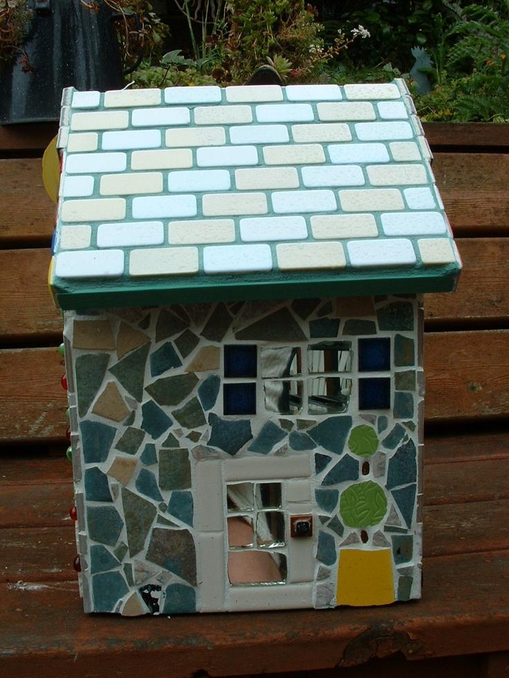 164 Best Images About Mosaic Birdbaths Amp Birdhouses On
