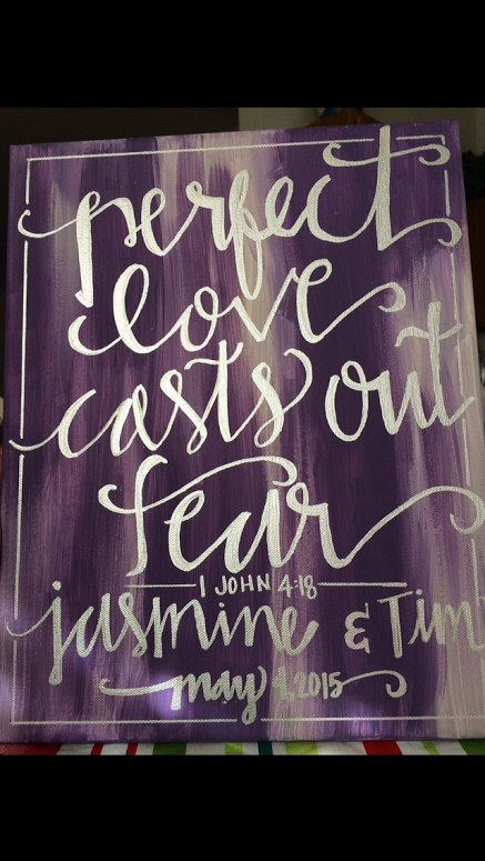 etsy  hand lettered bible verse canvas painting wall hanging sign calligraphy typography wall