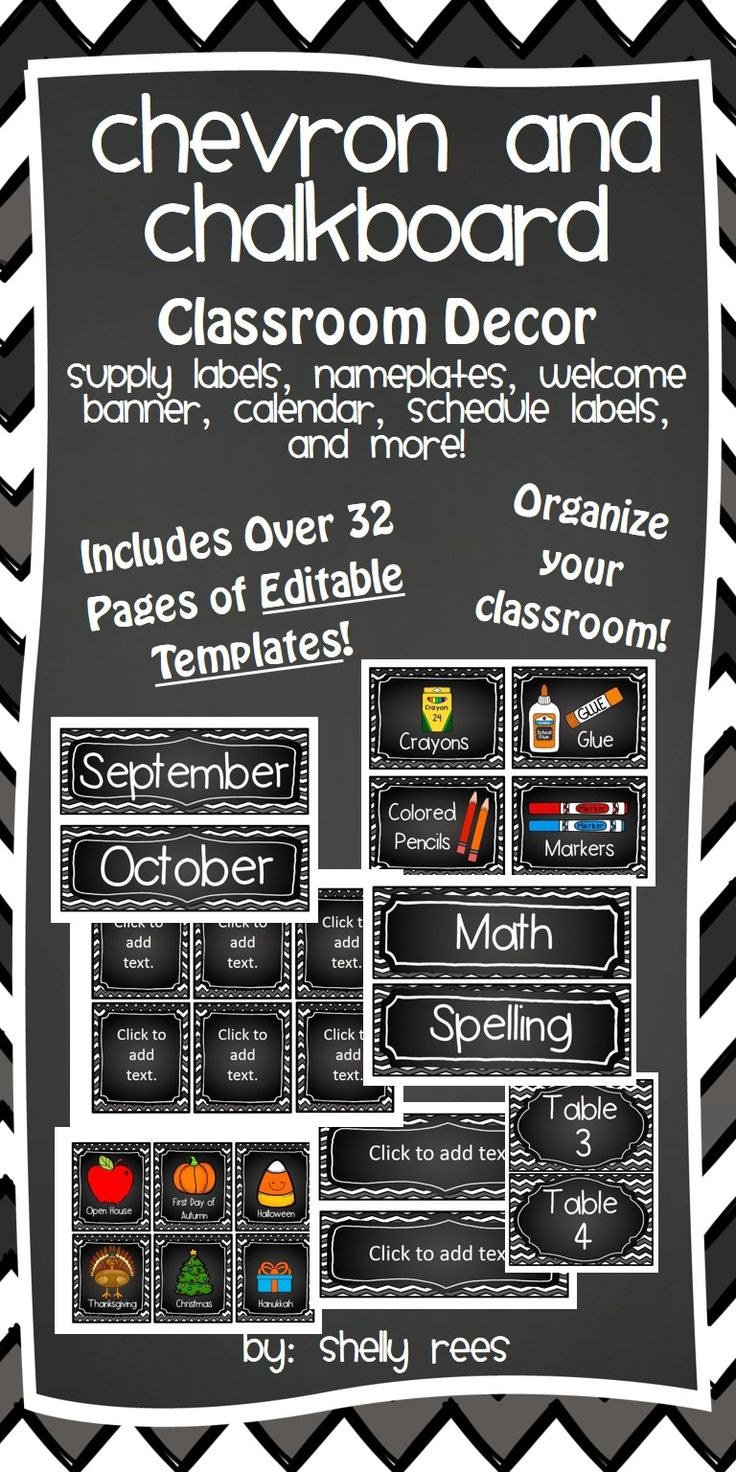 Classroom Decor Templates ~ Best ideas about chalkboard classroom on pinterest