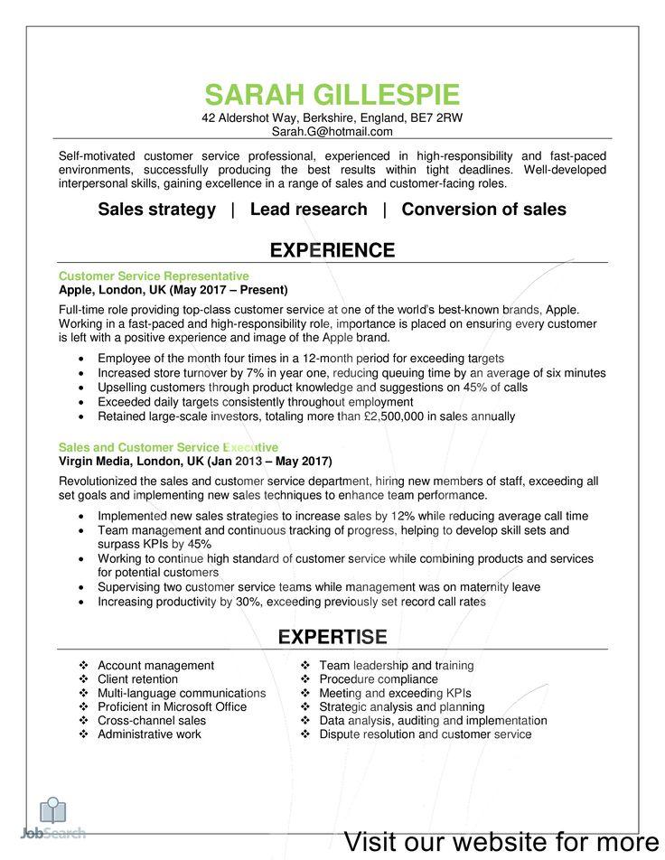 modern resume template free in 2020 Customer service