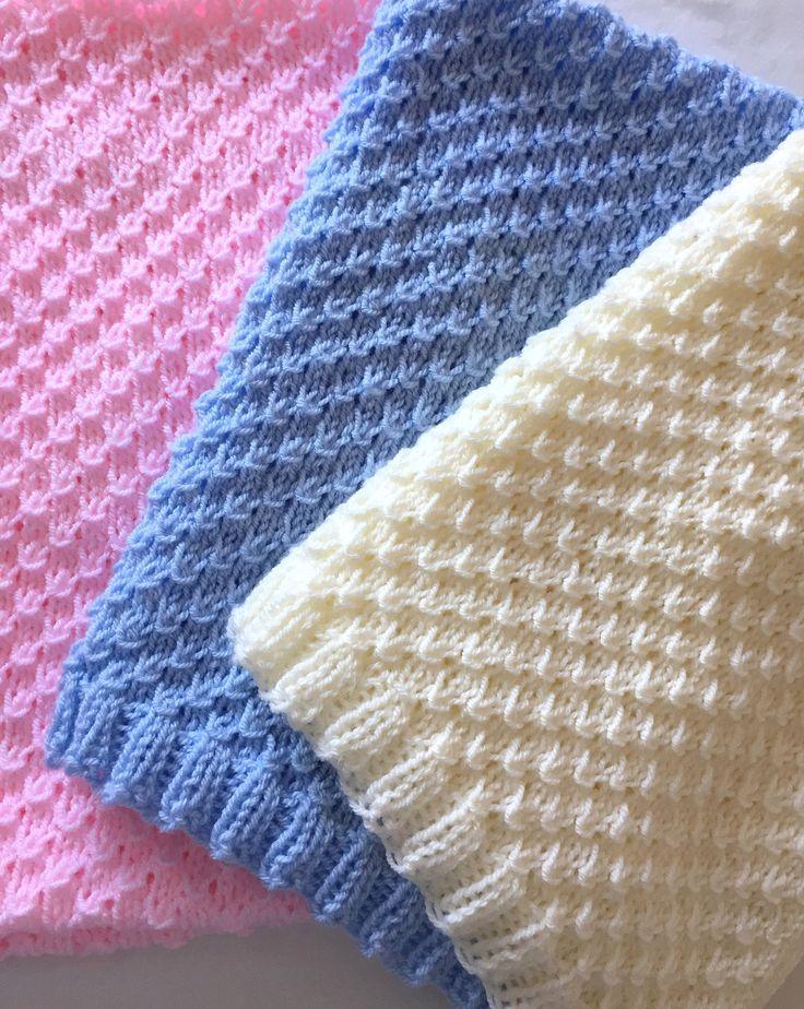 Freya Baby Blanket Easy Knitting pattern in 2020 (With