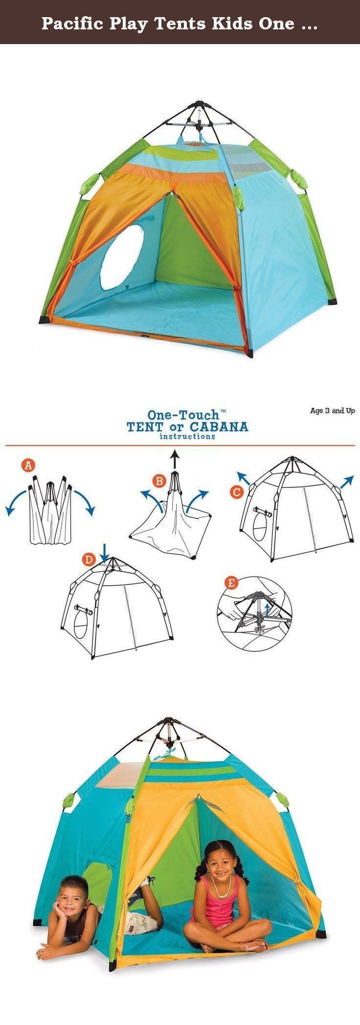 Pacific Play Tents Kids One Touch Beach Tent UV treated - 48  x 48  sc 1 st  Pinterest & 326 best Play Tents u0026 Tunnels Sports u0026 Outdoor Play Toys u0026 Games ...
