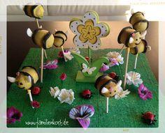 Für unseren Biene Maja Fan gab es zum zweiten Kindergeburtstag süße Cake Pops im Bienen-Design