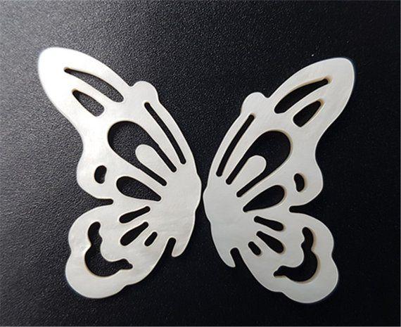 Muschelschmuck  Schmetterling Halbe Natürliches Muschel Teile für Ohrring Anh…