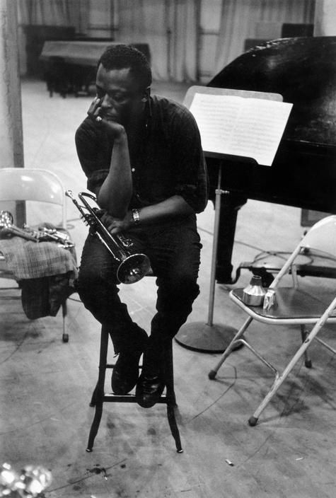 MilesDavis during a record session at Columbia Records, NYC. 1958    DennisStock    © Dennis Stock/Magnum Photos