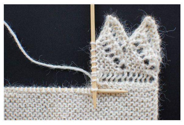 Как привязать ажурную кайму к вязаному изделию