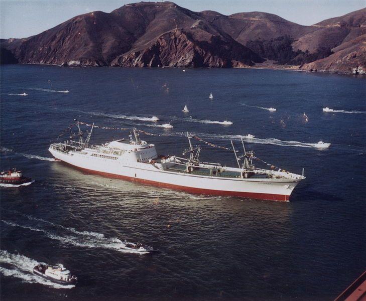 Barcos mercantes nucleares – Tecnología Obsoleta  El mercante nuclear NS Savannah, fotografiado en 1962. P.D.