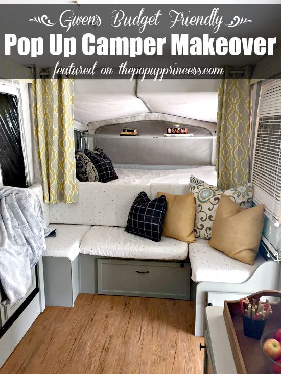 Gwen's Pop Up Camper Makeover:  This is an amazing, budget-friendly tent trailer remodel.  You don't need a big budget to make big changes.