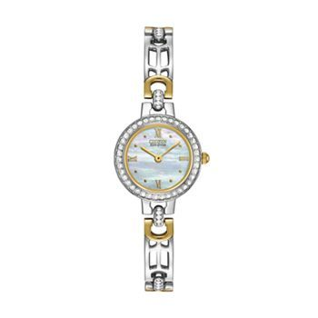 Citizen Watch - Women's Eco-Drive Silhouette Two Tone Stainless Steel - EW8464-52D