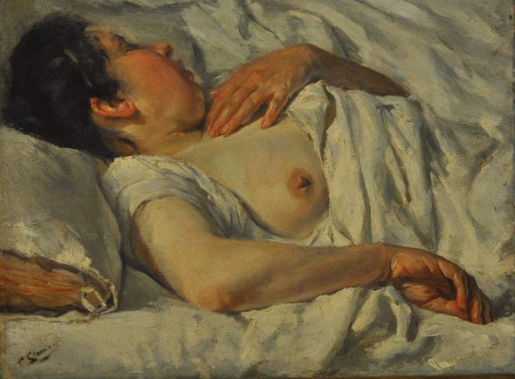 FRANCESC GIMENO  Dona dormint,   cap a 1899