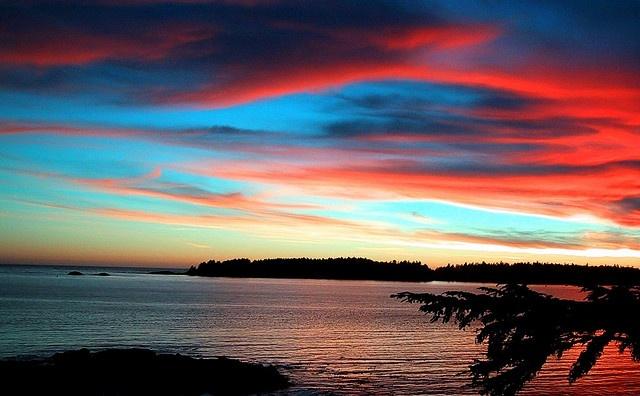 Watch the sunset in Tofino, British Columbia