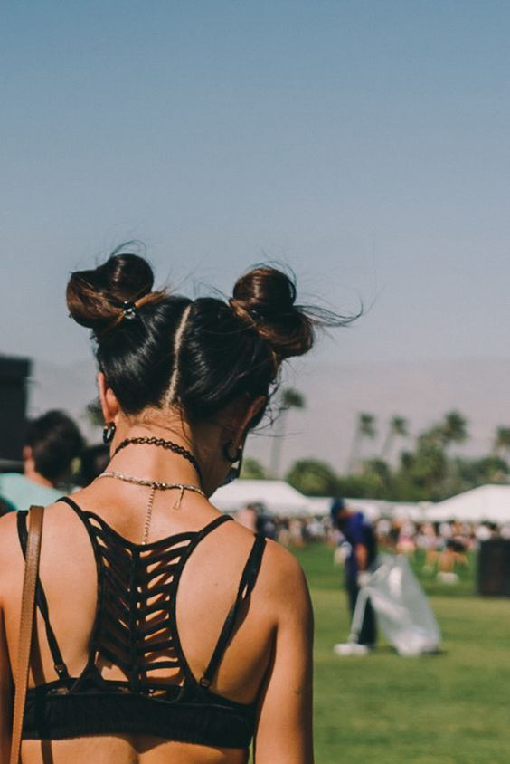 Festival hairstyle
