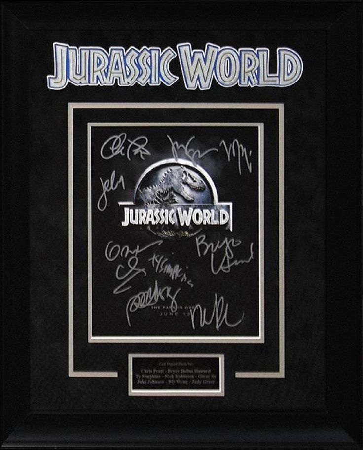 Jurassic World - Signed by Cast - Framed Artist Series