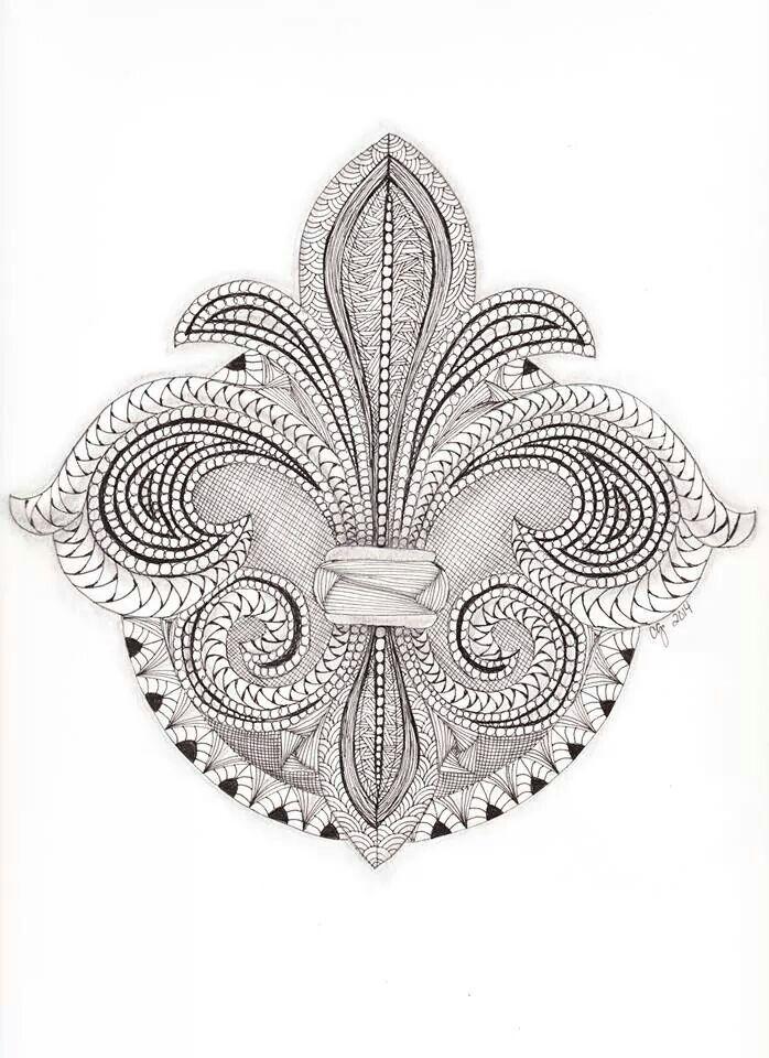 1000 images about fleur de lis on pinterest scroll for Fleur de lis coloring page