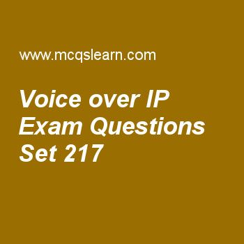 Practice test on voice over ip, computer networks quiz 217 online. Practice networking exam's questions and answers to learn voice over ip test with answers. Practice online quiz to test knowledge on voice over ip, multicast routing protocols, hdlc, error detection, message integrity worksheets. Free voice over ip test has multiple choice questions as to perform tracking of an ip, session initiation protocol (sip), uses concept of, answers key with choices as registration, termination....
