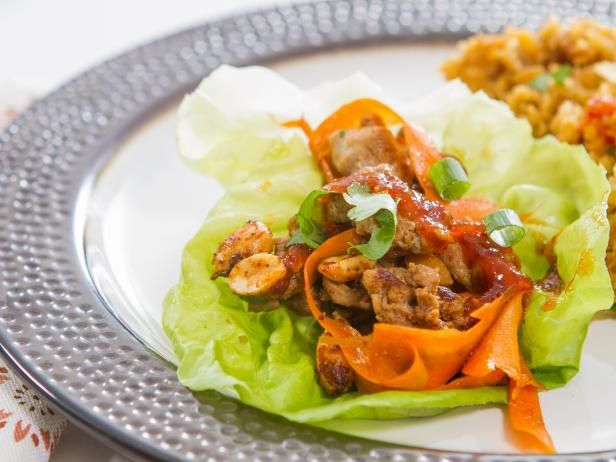 Trisha Yearwood's Spicy Turkey Lettuce Cups with Red Pepper Jelly Recipe from Food Network