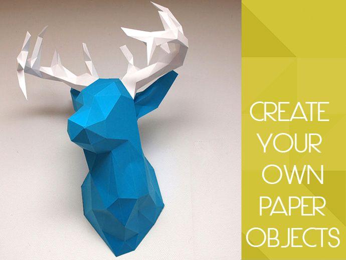 origami hirsch papier falten kinderzimmer pinterest. Black Bedroom Furniture Sets. Home Design Ideas