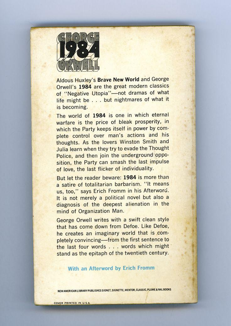 1984 george orwell blurb