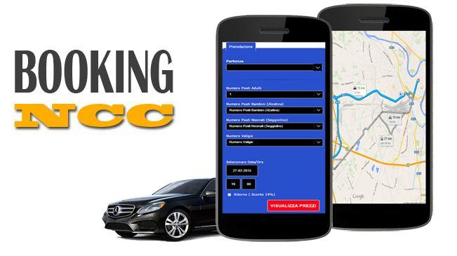 Web Application per la prenotazione online del Servizio NCC  http://www.jceweb.it/servizi/booking-ncc.html
