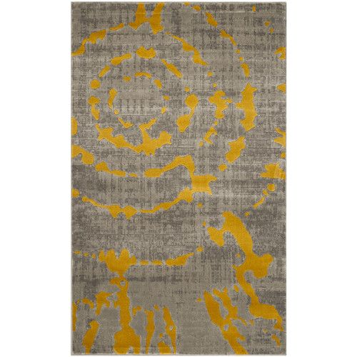 Found it at AllModern - Chaima Light Gray/Yellow Area Rug