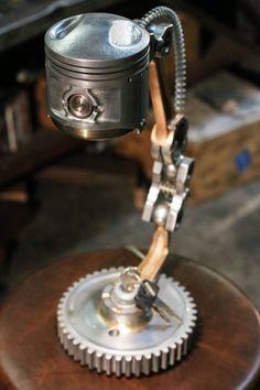Ähnliche Artikel wie Industrielle Desk Lamp – Motorradteile – Zündschalter – k…