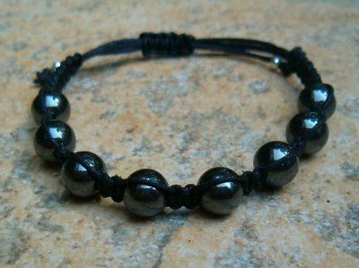 Hematite Healing Energy Bracelet ~ Increases focus, concentration, willpower, stability and reliability Strengthens the root chakra Grounding Dissolves negativity and shields against lower vibration energies Helps overcome compulsions and additions Restores, strengthens and regulates the blood supply