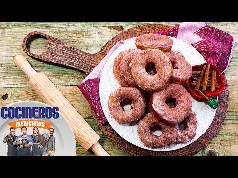 Receta: Donas de manzana y chocolate de mesa   Cocineros Mexicanos - YouTube