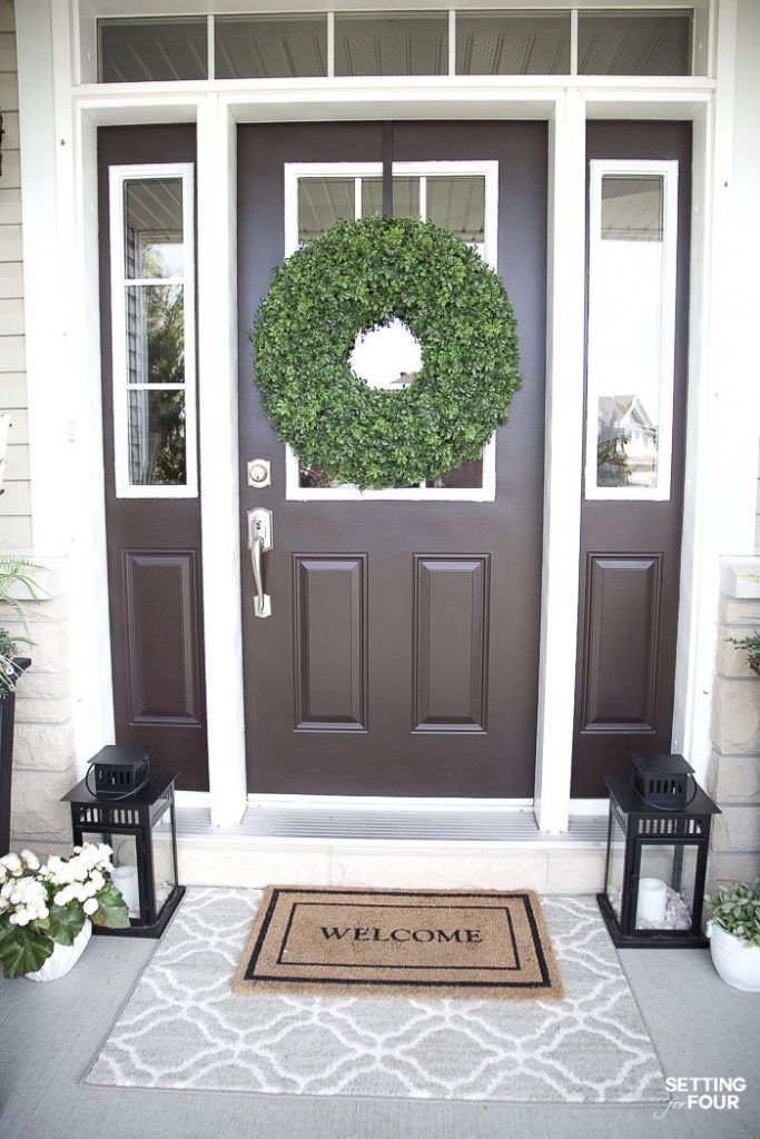 Easy Affordable Home Refresh Ideas Spring Porch Decor Front Door Rugs Porch Decorating