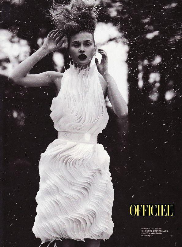 #NostalgiaFriday: #blackandwhite 2012 L'Officiel Hellas fashion #editorial ft a #costarellos #white #pleats dress