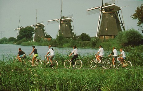 Holland windmills and bicycles