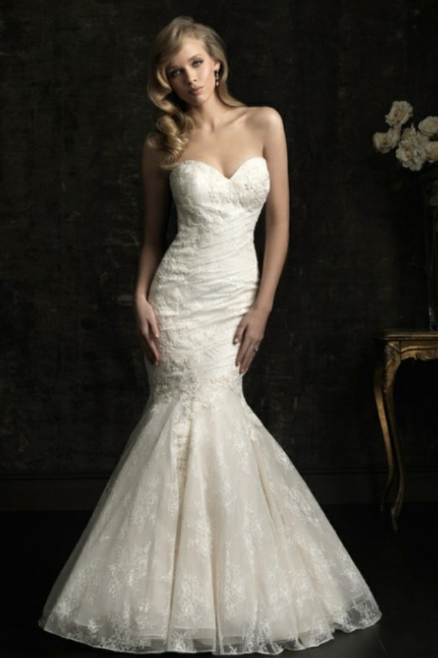 Allure Bridal Lace Mermaid Tail Wedding Pinterest