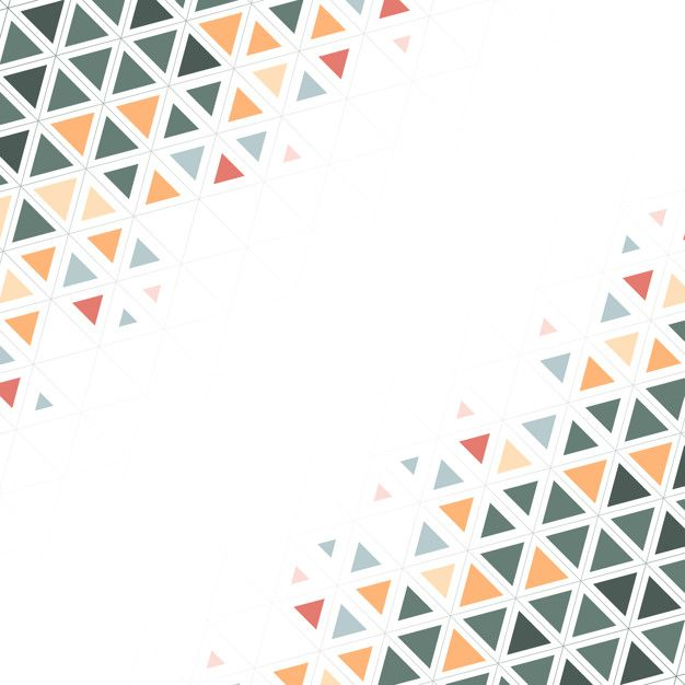 Download Colorful Triangle Patterned On White Background For Free