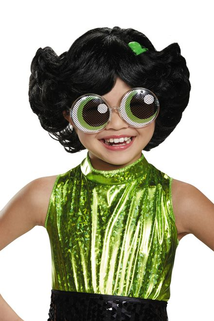 """Suit up and become """"the toughest fighter"""" in this Buttercup Child's Wig! - Black…"""