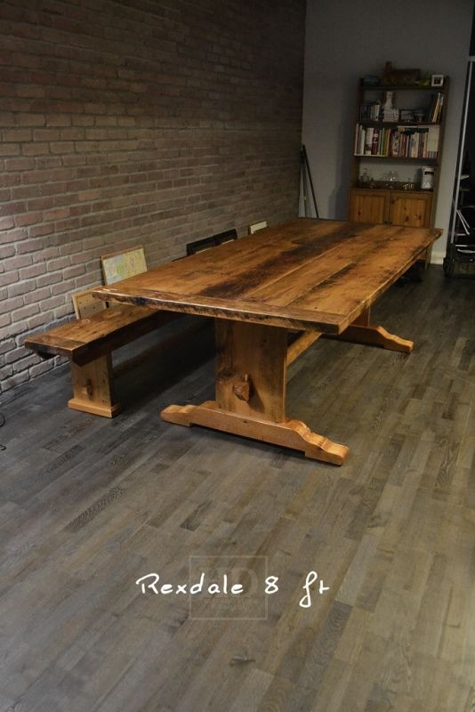 I WILL OWN THIS TABLE!!!!  Trestle Tables - HD Threshing   Reclaimed Wood Furniture