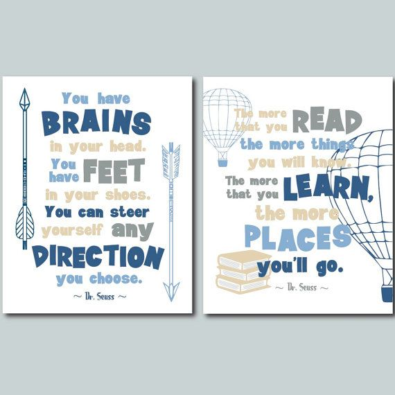 dr seuss quotes printable poster blue jpg you by SunnyRainFactory