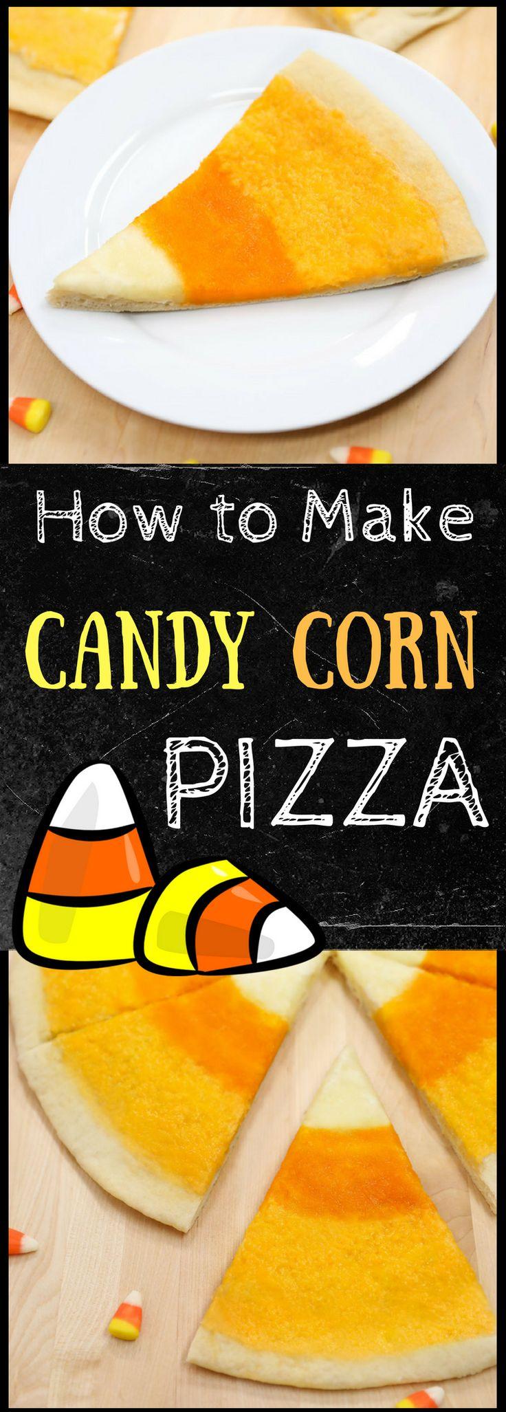 Candy Corn Pizza Recipe: 3 Cheeses