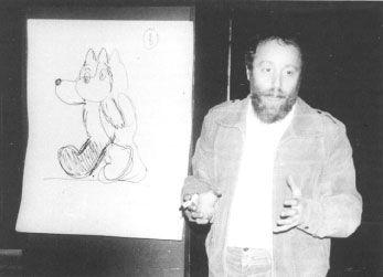 Youri Norstein et le croquis du petit loup du Conte des Contes