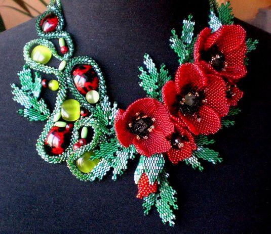 Beautiful beading jewelry by Ludmila Gubinova. See more on beadsmagic.com