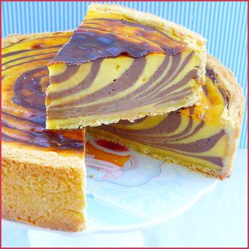 Flan pâtissier tigré ou zébré - Après le fameux gâteaux zebré, place cette fois-ci au flan zebré ! J'ai découvert l'idée ici, cependant j'ai suivi la ...