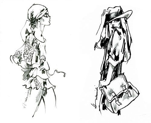 Barbara Hulanicki fashion illustration
