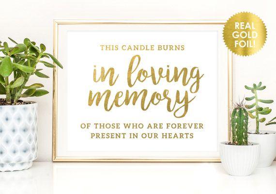 Diese Kerze brennt in Memory Zeichen / von ShinePaperAndPress