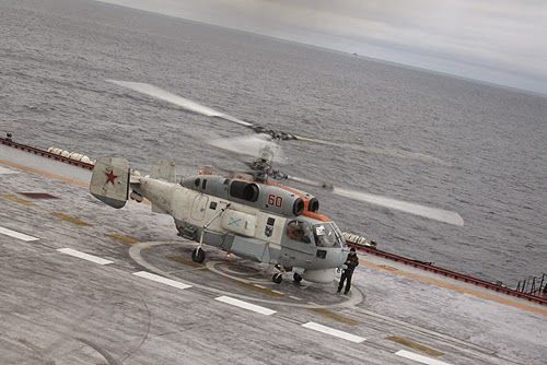 Ka-27 on Admiral kuznetsov deck