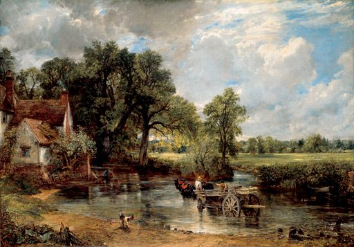 John Constable's rural idyll 'The Haywain' set in Flatford Mill where Willy Lot's cottage still stands.