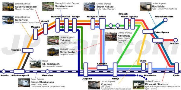 Sanin train map