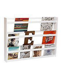 Tellerregal, weiß oder auch als Bücherregal Weißes Tellerregal ... ideal auch zum verstauen von Bildbänden und alten Schallplatten.