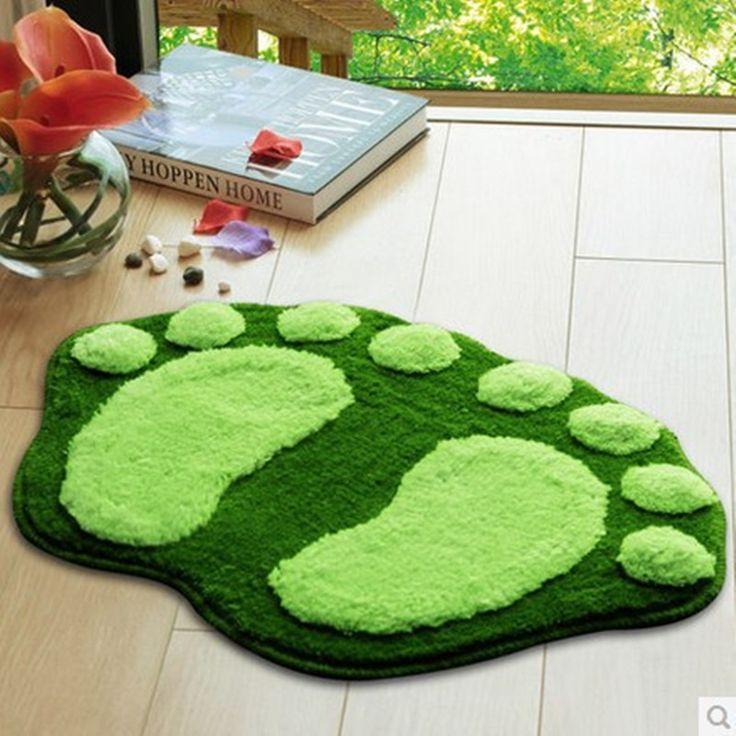 Children Cartoon Green Foot Mat Kitchen Floor Carpets Dedroom Door Shag Rug Anti-slip Mats For Living Room Rugs 39*59cm