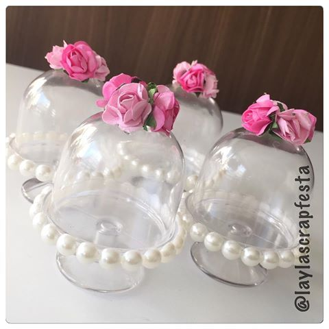 Mini Cupulas para bodas de pérola Mais